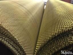 Сетка тканная латунная 0.040 х 0,03 мм