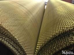 Сетка тканная латунная 0. 100 х 0, 06 мм