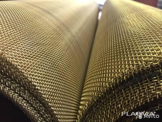 Сетка тканная латунная 2.000 х 0,5 мм