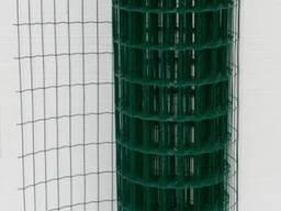 Сварная сетка в рулоне c ПВХ покрытием 50х100 L=2м 10м. п.