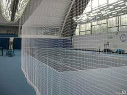 Сетки вязаные заградительные спортивные, сетки защитные огра