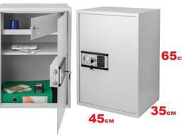 Сейф 65х45Х35см. офисный с взломостойким электронным замком