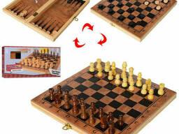 Шахматы METR+ дерев, 3в1(шашки, нарды) (S3029)