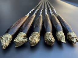 Шампуры Подарок охотнику в чехле из плотной ткани 6шт