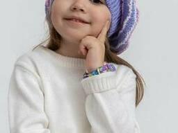 Шапка детская 126R001 цвет Сиреневый