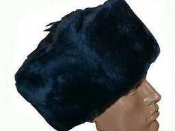 Шапка-ушанка Офицерская Общевойсковая (верх цвета полынь)