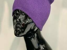 Шапка жіноча трикотажна Фіолетова