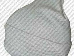 Шапки вязаные полушерстяные, акриловые с отворотом