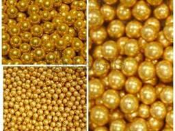 Шарики сахарные золото, серебро, жемчужины