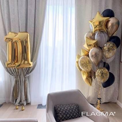 Шары гелиевые, композиции из шаров, доставка по городу Кривой Рог