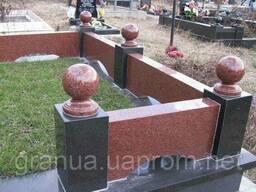 Шары гранитные (красные) из Лезниковского г-та диаметр 15 см