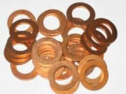 Шайбы плоские уплотнительные (кольца) медные, DIN 7603