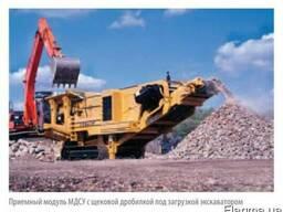 Щебень вторичный от переработки бетона, фракция 40-90