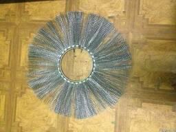 Щетка дисковая 120х550 металлический ворс