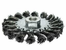 Щетка дисковая S&R 100х22,2 мм, плетенная проволока