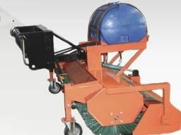 Щетка дорожная (коммунальная) к телескопическим погрузчикам с бункером для мусора