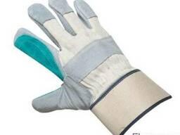 Щільні зшивні рукавички з розщепленої шкіри (спилка)