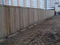 Щит ограждения деревянный 2х2м - фото 4