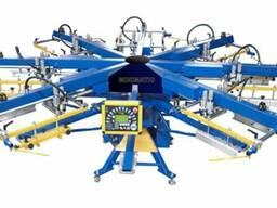 Шелкотрафаретный станок Minimatic pneumatic размер печати.