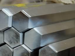 Шестигранники нержавеющий ф №60, 50, 40, 30 мм ст. 12Х18Н10Т