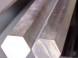 Шестигранник стальной по стали 45, 35, 20, 40х и др