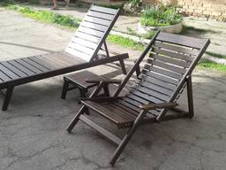 Шезлонги, лежаки, садовые кресла, кентукийские стелья, столы