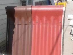 Шифер цветной Эко/Дах 1000*1130 (бордо, коричневый)
