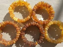 Шикарные многорядные браслеты из натурального янтаря