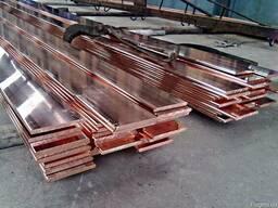 Медная полоса М1 и М2 медь шина размеры на складе