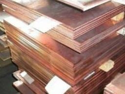 Шина (полоса, лента) медная 3х30 медь медный прокат М1 М2 (