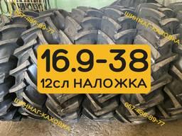 Шини 16.9-38 Petlas Посилена резина 12сл Високий шип Задні МТЗ 892 920