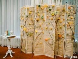Ширма деревянная створчатая для праздника в аренду