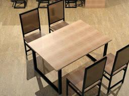 Широкий деревянный стол LOFT с ножками из металла