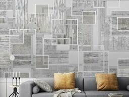 Фотообои 3Д в спальню дизайнерские Декоративный Бетон Wood & Concrete в стиле Лофт. ..