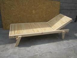 Шизлонг деревянный