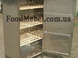 Шкаф для хлеба из нержавеющей стали с деревянными полками