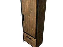 Шкаф офисный в стиле лофт из натурального дерева