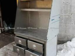 Шкаф-тумба из нержавеющей стали б. у с выдвижным ящиками