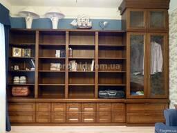 Шкафы и гардеробные из дерева на заказ