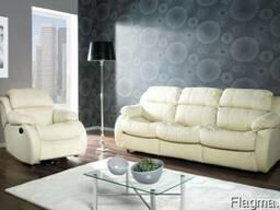Шкіряний диван та крісла з реклайнером / кожаный диван и кре