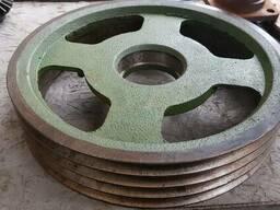 Шкив роторной косилки (большой) 4Х ручейный 1, 65М