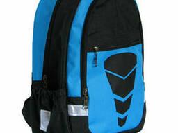 Школьный рюкзак для мальчика Трансформер синий, ткань. ..