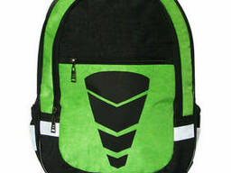 Школьный рюкзак для мальчика Трансформер зелёный, ткань. ..