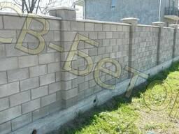 Шлакоблок, камень строительный размер 39*19*12