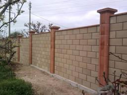 Шлакоблок, камень строительный, заборный, размер