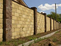 Камень забора блок заборный Николаев Заборный блок камень