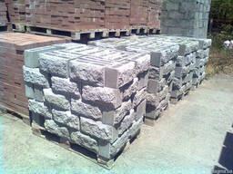 Шлакоблок рваный камень, Николаев Рваный, колотый шлакоблок