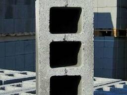 Шлакоблок стеновой пустотелый, М50