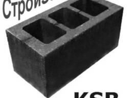 Шлакоблок стеновой усиленный М75 190х190х390 мм, Киев
