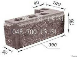 Шлакоблок столбовой фактурный, колотый камень Одесса